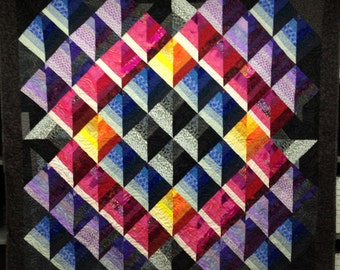 QUILT - Geometric, modern (63 x 60 inches)