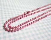 27 inch Rose Pink Ball Chain 2.4mm diameter