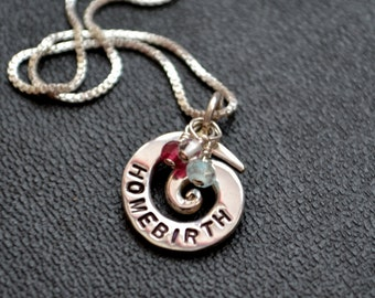 Personalized Birthstones Homebirth Necklace