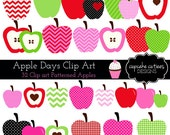 Apple Days Digital Clipart Elements Commercial use Instant Download