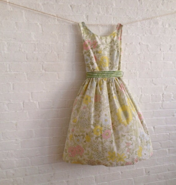 Wildflowers , a vintage inspired Tea Dress, bridesmaids , made to order