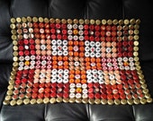 Red & White Bottle Cap Quilt
