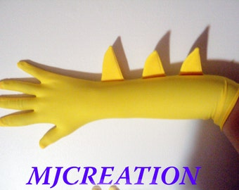 superhero gloves costume made to order superheroes  costumes mjcreation gloves YELLOW