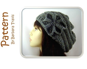 Knitting Pattern Mens Beret : Beehive slouch hat Etsy