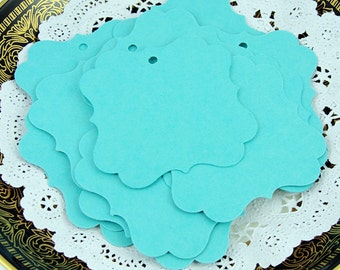 Aqua Blue tags, Wedding Favor Tags, Gift Tags, Hang tags, Sturdy Heavy Weight tags, Pick Size