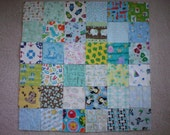 I Spy Quilt AND Matching Game Quilt Kit, For Baby-Younger BOYS, 72 Flannel 5 inch squares - Kit 3