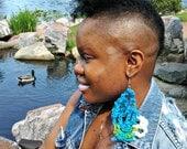 Colorful Crochet Web Earrings