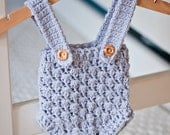 Instant download - Crochet PATTERN (pdf file) - Baby Shorts With Suspenders (sizes from newborn up to 12 months)