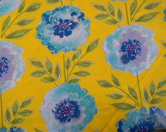 The Painted Garden by Dena Designs Cotton Fabric in Yellow