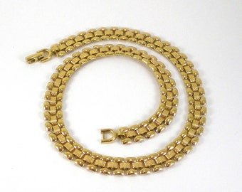 Gold Chain Necklace - Gold Chain Choker Vintage Jewelry - Monet Necklace