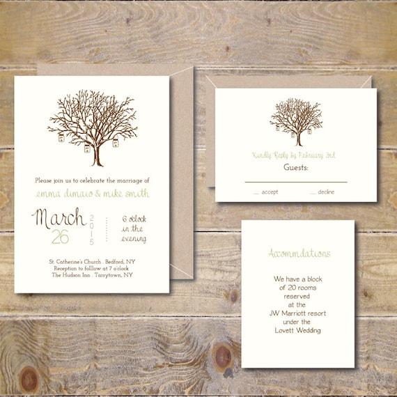 Outdoor Themed Wedding Invitations: Rustic Wedding Invitations . Outdoor Wedding Invites . Country