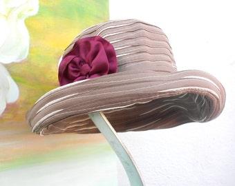 SUN Hat----RIBBON Hat---tan/natural/khaki color .....