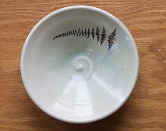 Fern Pate/Sauce Serving Bowl by Bunny Safari
