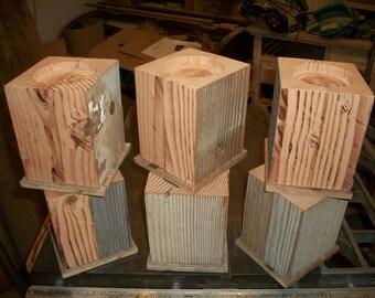 Set Of 4 Alder Wood Bed Risers Furniture Blocks By