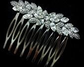 Leaves Bridal Hair Comb, Leaf Wedding Headpiece, Bridal Hair Jewelry, Swarovski Wedding Hair Comb, Crystal Bridal Headpiece, FOLIAGE