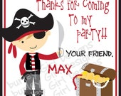 Pirate Thank You Tags - DIY - Digital FIle - Party Favor Tag