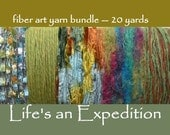 Scrapbooking yarn samples supplies trim embellishment, fiber art bundle variety card 20 yards assortment lime green yellow blue i250
