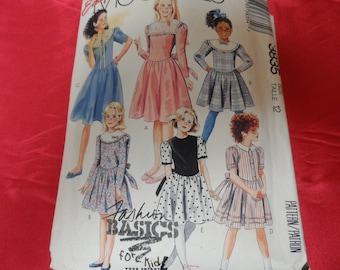 Vintage McCalls 3835 Girl's Dress Pattern Size 12
