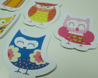 Retro Owl Stickers
