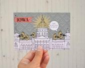 POSTCARD: Iowa Capitol