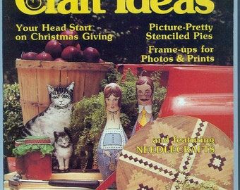Vintage Retro Decorating & Craft Ideas Magazine September 1978 Patterns for Needlework Crafting Fancy Pies and Recipes