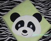 Applique Panda Head Embroidery Design-Includes 4 Sizes