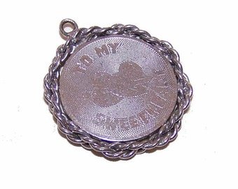 Vintage STERLING SILVER  Charm - To My Sweetheart
