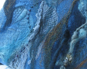 Felted Fibre Art, Mixed Media Wall Art