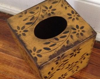 Paper Mache Vintage Tissue Box