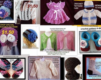 Crochet PATTERNS - Knitting PATTERNS -- Patterns - Crochet Supplies - Knitting Supplies
