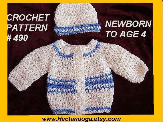 Crochet Baby Boy Hooded Sweater Pattern : CROCHET PATTERN unisex baby sweater patterns for babies