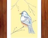 Bird Print, Nursery Decor, Woodland Decor, Wall Art, 8.5 x 11 Print, Woodland Nursery, Giclee Print, Whimsical Art, Prints Illustrations