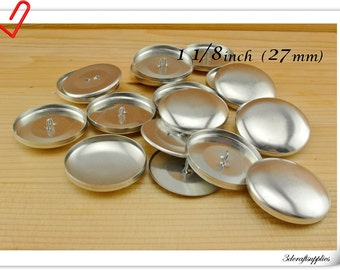200 sets of  cover button 1 1/8 inch (27mm)  Size 45  Self cover buttons Wire back Cover buttons wholesale