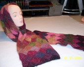 8 x 64 Hand Knitted Entralac Scarf