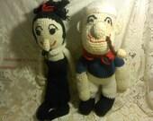 FREE SHIPPING Popeye and Olive Oyl dolls (Vault B2)