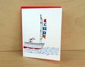 Nautical Flag Birthday Card