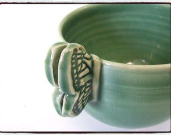 Butterfly Handle Mug in Just Green by misunrie