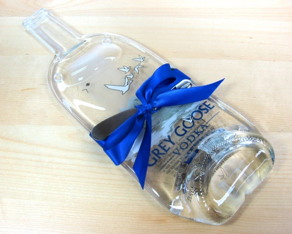 Grey Goose Melted Bottle Cheese Tray - Large Size, 1 liter, Perfect Hostess Gift