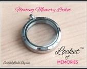 1pc...25mm..Floating Glass Locke...Locket of Memories TM...Living Locket, Memory Locket, Floating Charms, Birthstones, Stamped Plates