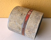 Distressed Metal Candle Holder, Industrial Lighting, Upcycled Metal Container, Unisex Gift Idea