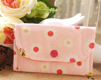 Little bee and daisy Mini Snap Wallet
