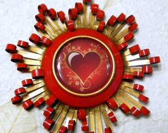 Heart Recycled Aluminum Can Decoration