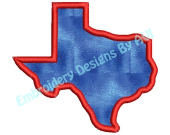 Texas State Applique Machine Embroidery Designs 4x4 & 5x7 Instant Download Sale