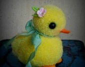Sweet pompom baby DUCK  featured in Adventures in Pompom Land Craft Book