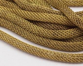 Brass Mesh Chain, 5m - Raw Brass Mesh Chain (4mm) Ch002 ( Z109 )