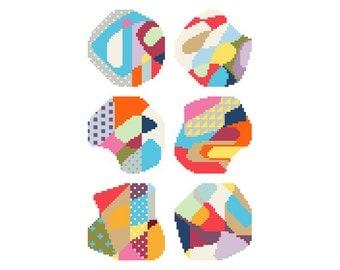 PDF pattern / needlepoint coaster set No.3