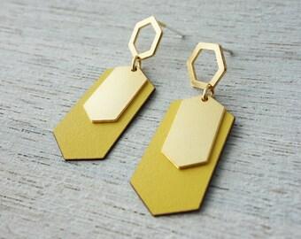 Helsinki Post Earrings,  geometric jewelry, signature earrings, Scandinavian design
