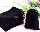 Wholesale of 75pcs Black Velvet Drawstring Jewelry Gift Bags Organza Bags Pouches HOT 90x70mm PD70