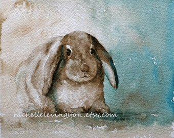 easter bunny wall hanging spring decor spring decoration EASTER bunny wall art easter bunny watercolor painting bunny art print 8x10