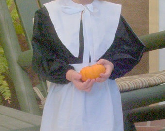 Pilgrim Costume Accessories Girls Size 4-6  Includes the bonnet, collar and apron